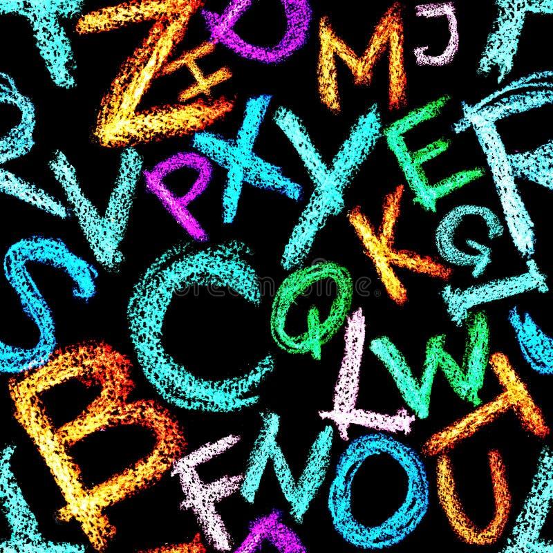 Download Crayon alphabet seamless stock illustration. Image of caps - 14454389
