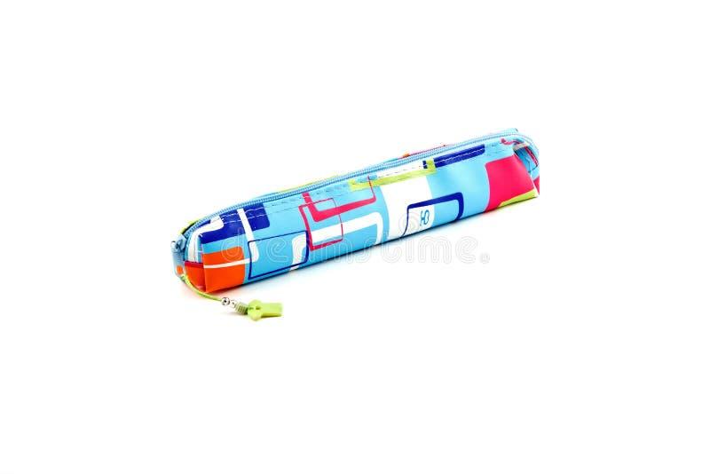 Crayon-boîtier sur un fond blanc image stock