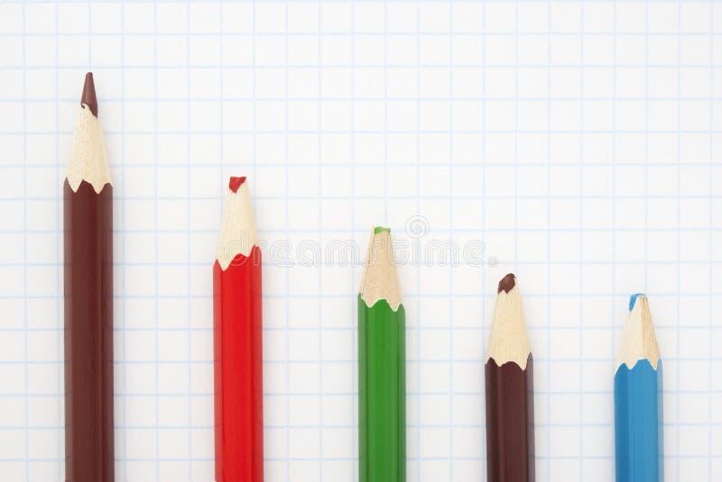 Crayon brun pointu photo stock