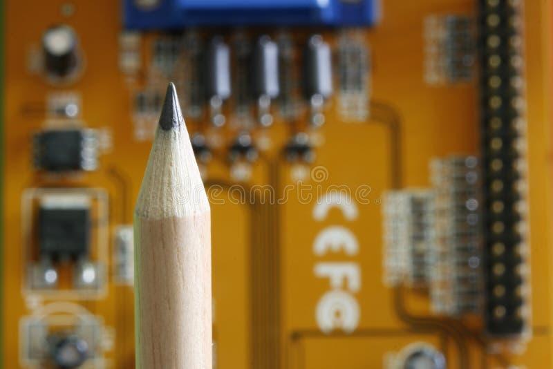 Crayon - carte d'ordinateur photo libre de droits