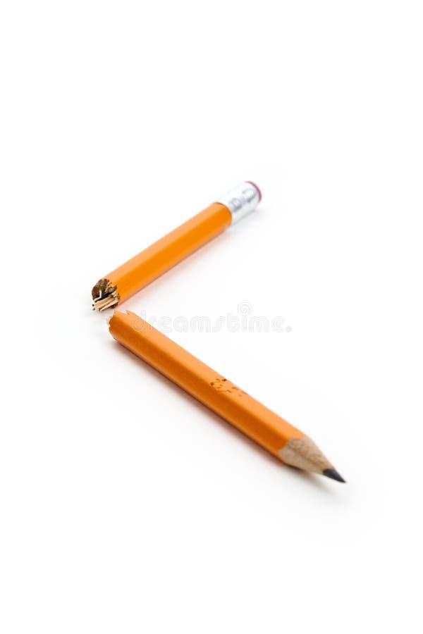 Crayon cassé image libre de droits