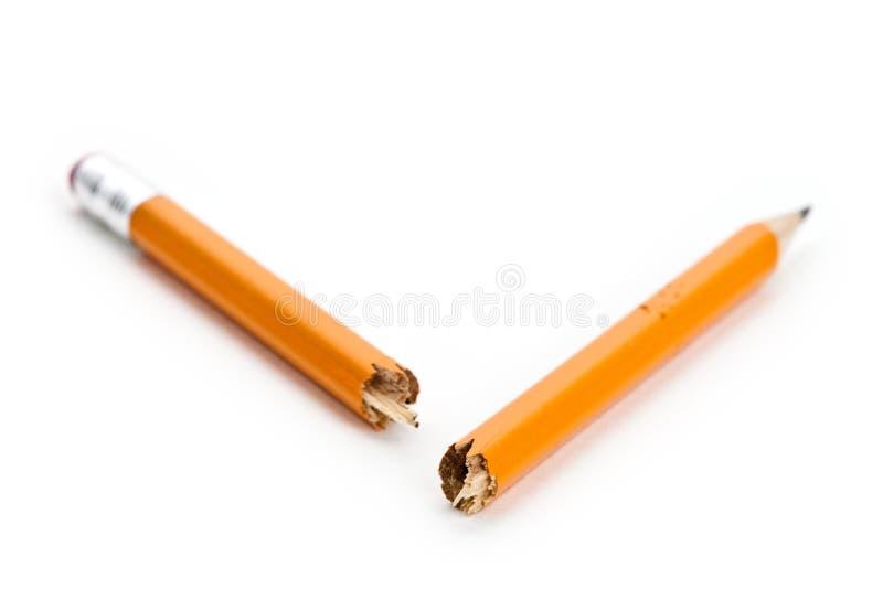 Crayon cassé photographie stock