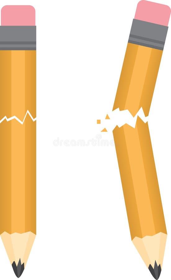 Crayon cassé illustration stock