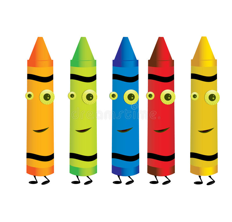 Crayon characters 1 royalty free illustration
