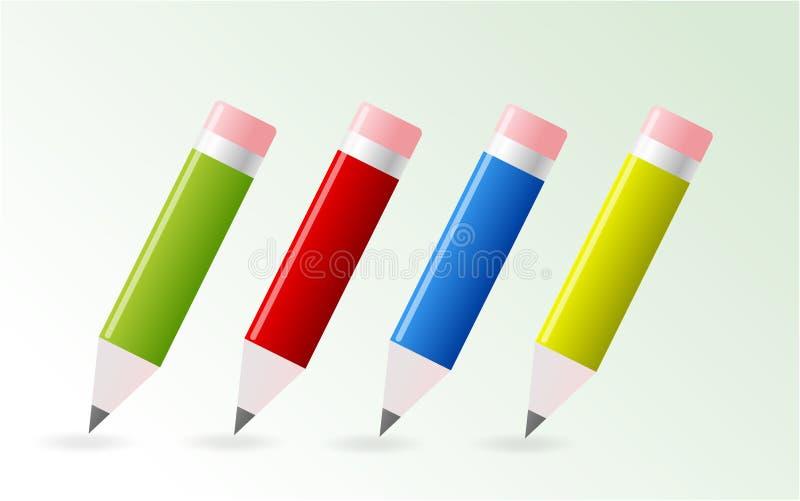 Download Crayon coloré illustration de vecteur. Illustration du transmissions - 8665569