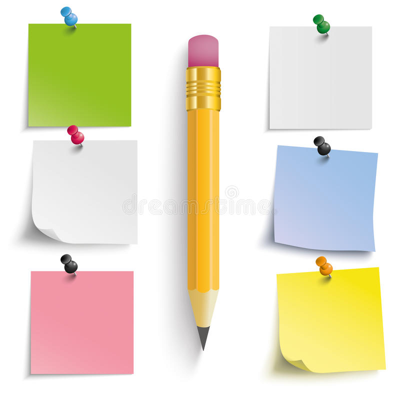 Crayon coloré d'autocollants illustration libre de droits