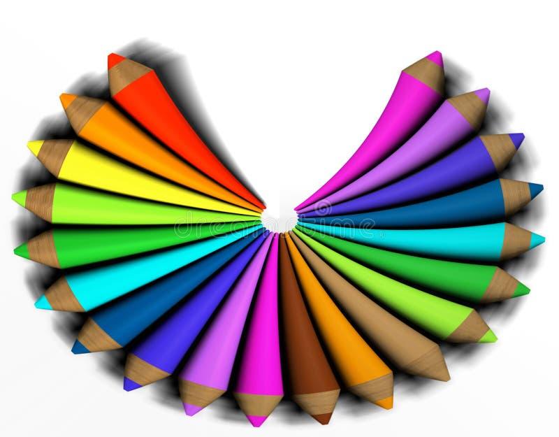 Crayon coloré par abstrait illustration stock