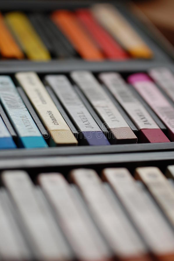 Crayon colors royalty free stock photography