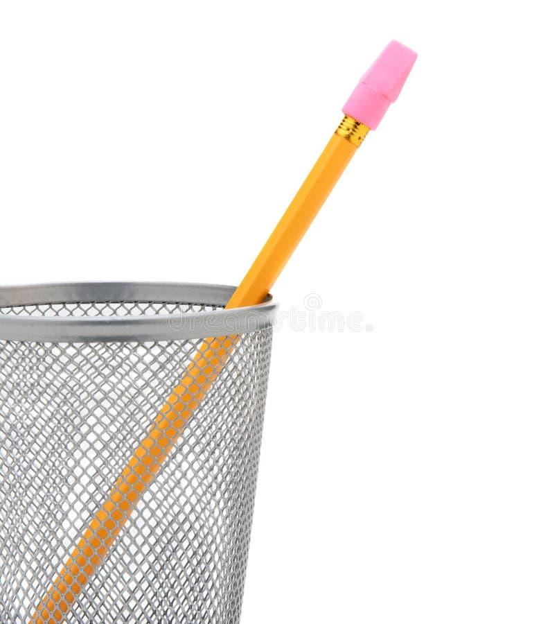 Crayon dans la tasse de crayon images libres de droits