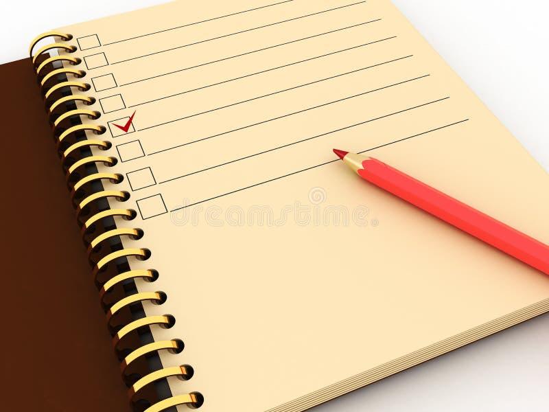 crayon de bloc-notes illustration libre de droits
