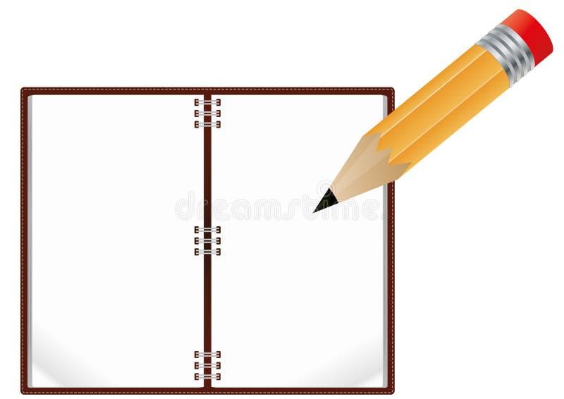 Crayon de cahier illustration stock