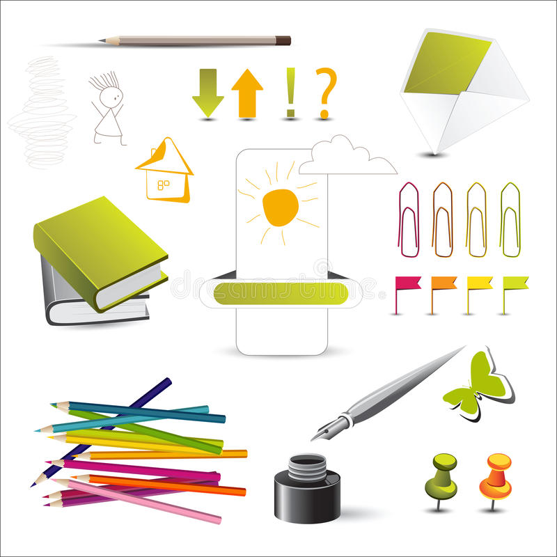Crayon de cahier illustration libre de droits