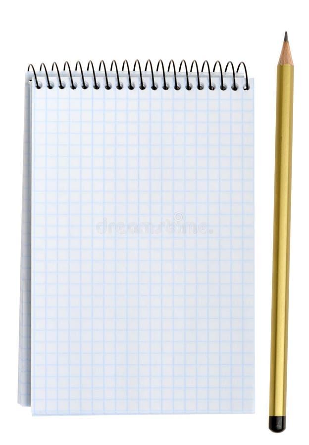 crayon de cahier image libre de droits