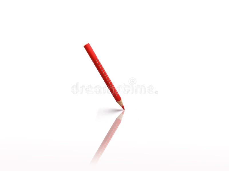 Crayon de couleur rouge images stock