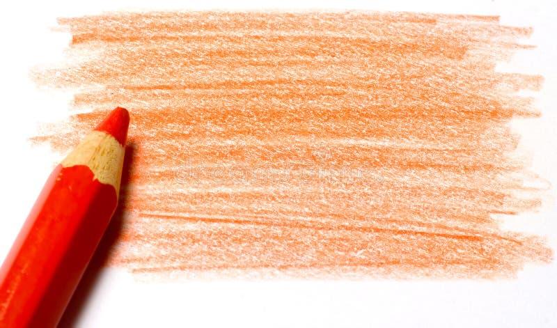 Crayon de couleur rouge avec la coloration photos libres de droits