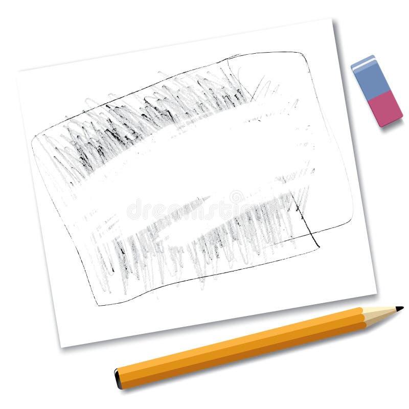 crayon de papier de retrait illustration libre de droits