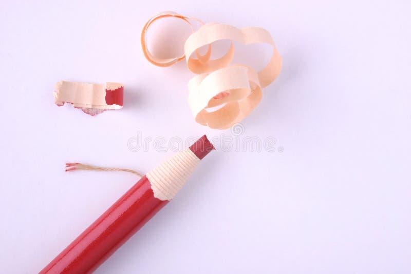 Crayon de repère de Peelable (fond blanc) photos stock