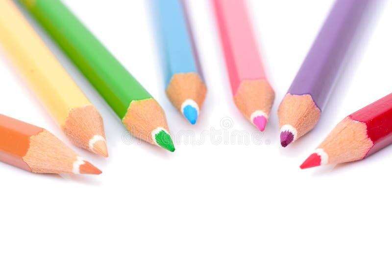 Crayon en pastel coloré images stock