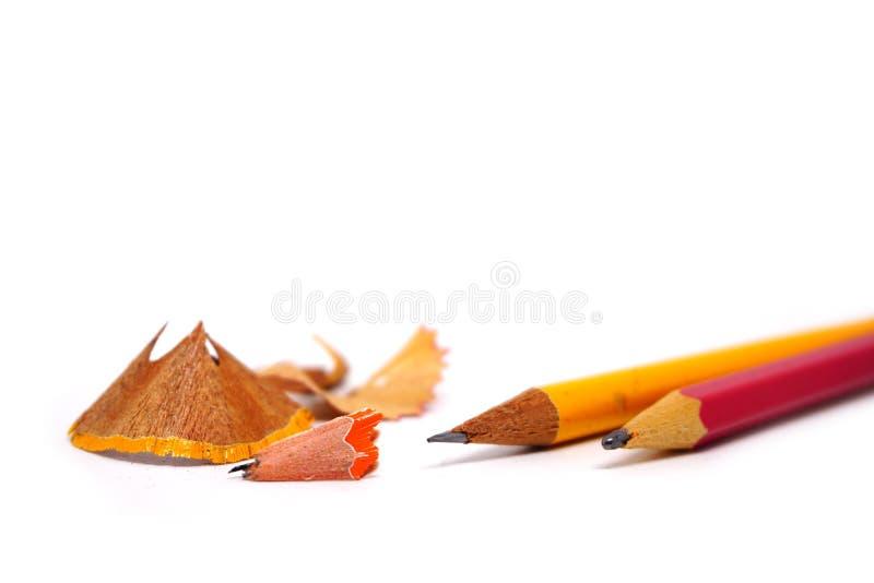 Crayon et affûteuse image libre de droits