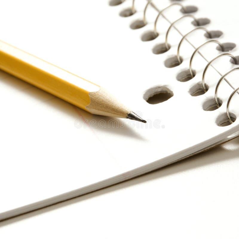 Crayon et cahier. photos libres de droits