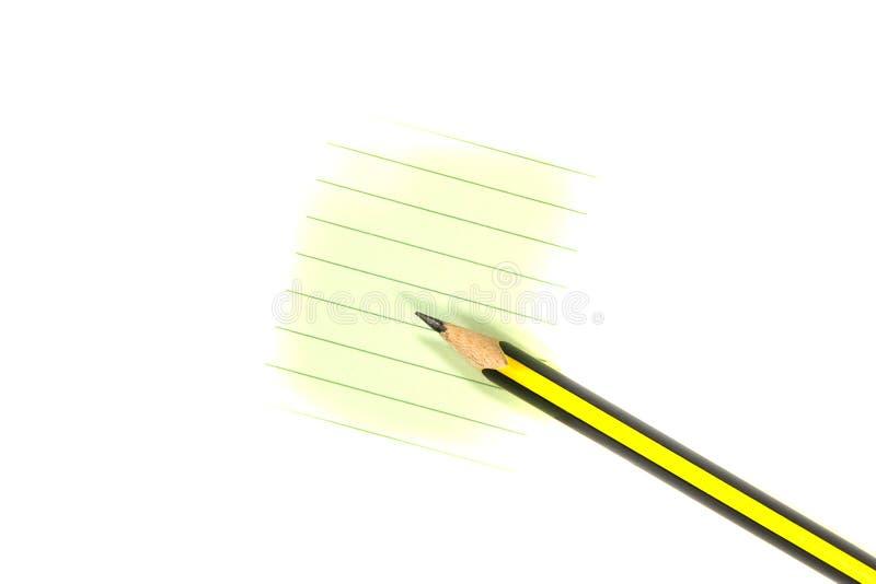 Crayon et papier images stock