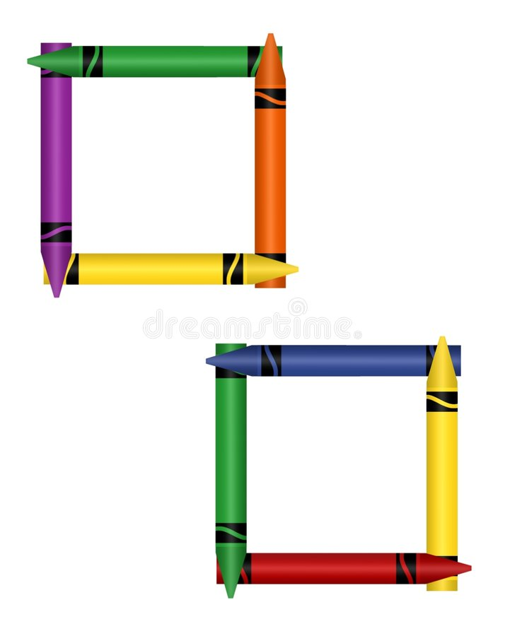 Download Crayon Frames stock illustration. Illustration of draw - 367067