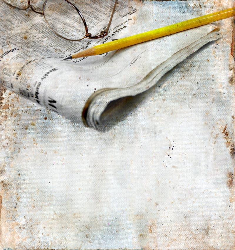 crayon grunge de journal de fond image stock