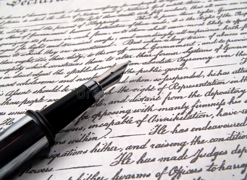 Crayon lecteur 2 de calligraphie image libre de droits