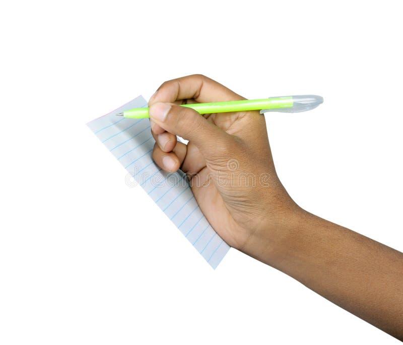 Crayon lecteur avec la main image libre de droits