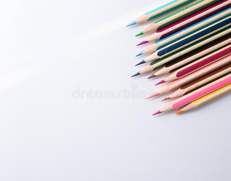 Crayon lecteur coloré sur le fond blanc illustration stock