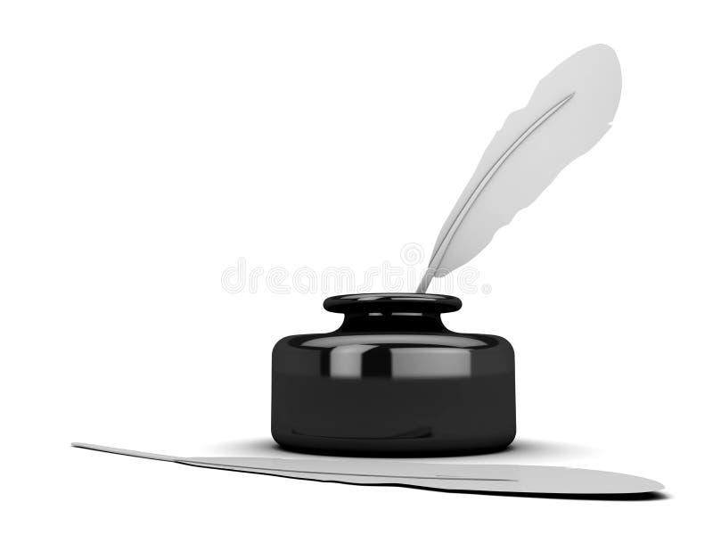 Download Crayon Lecteur D'encrier Encastré Illustration Stock - Illustration du rétro, signe: 8657238