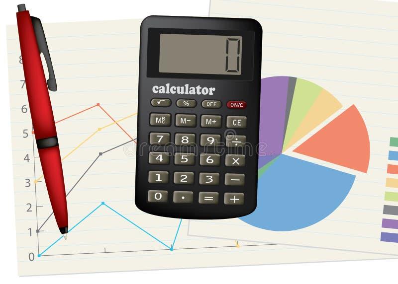 crayon lecteur de calculatrice illustration stock