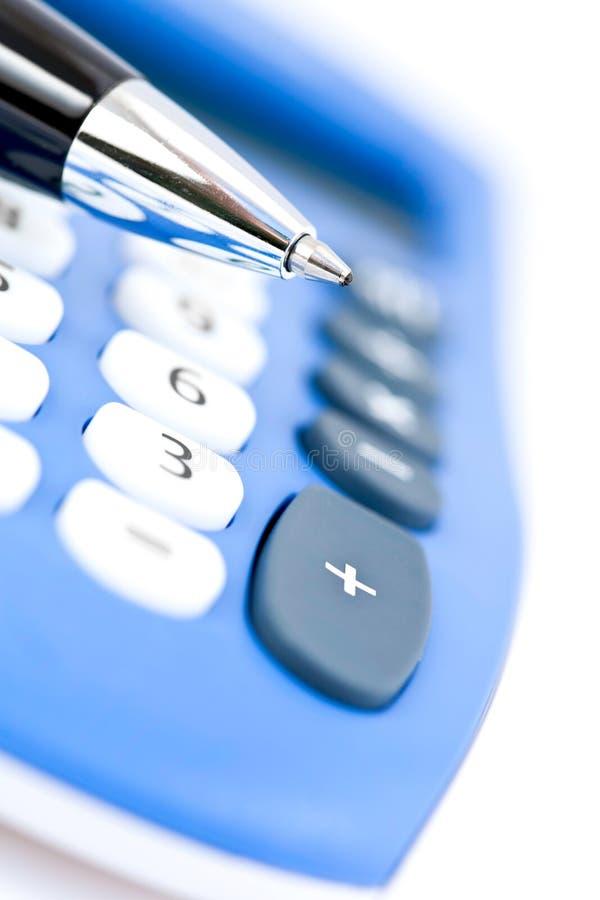 Crayon lecteur et calculatrice images stock