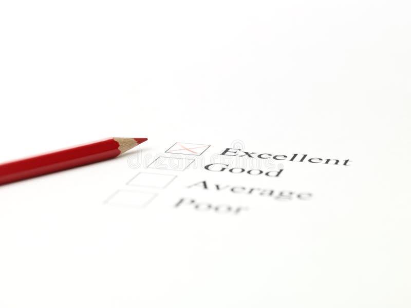 Crayon lecteur et checkboxes rouges photos libres de droits