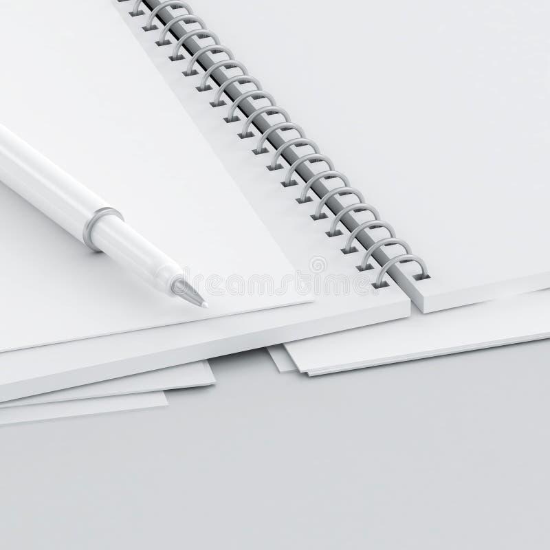 Crayon lecteur et papier illustration libre de droits