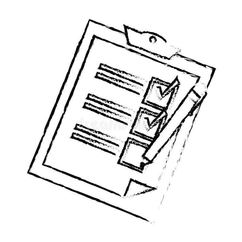 crayon lecteur proche de liste de contrôle vers le haut illustration de vecteur