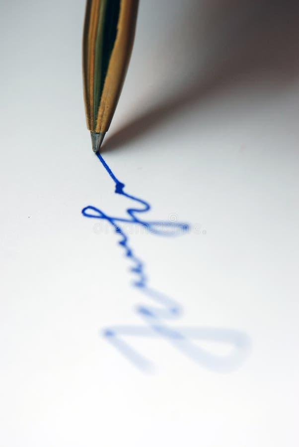 crayon lecteur quelque chose écriture photo stock