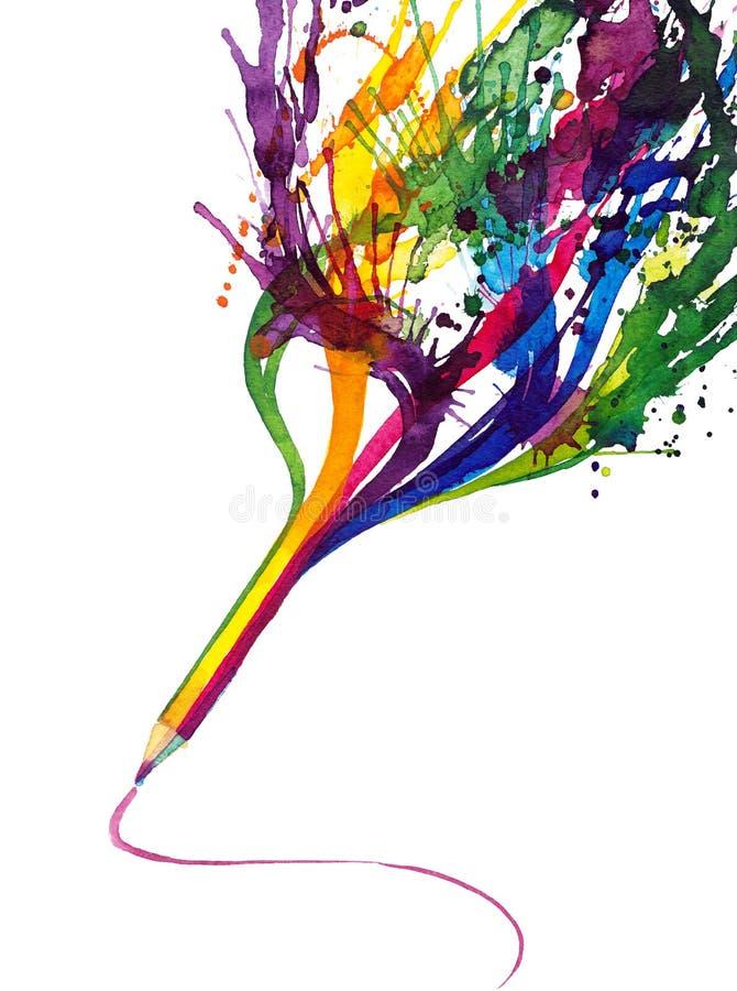 Crayon magique illustration libre de droits