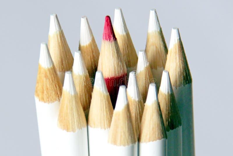 Crayon rouge photos stock