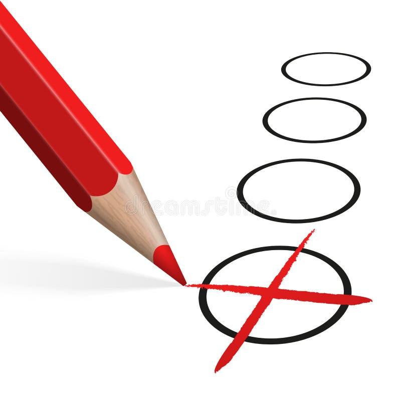 crayon rouge pour la sélection illustration de vecteur