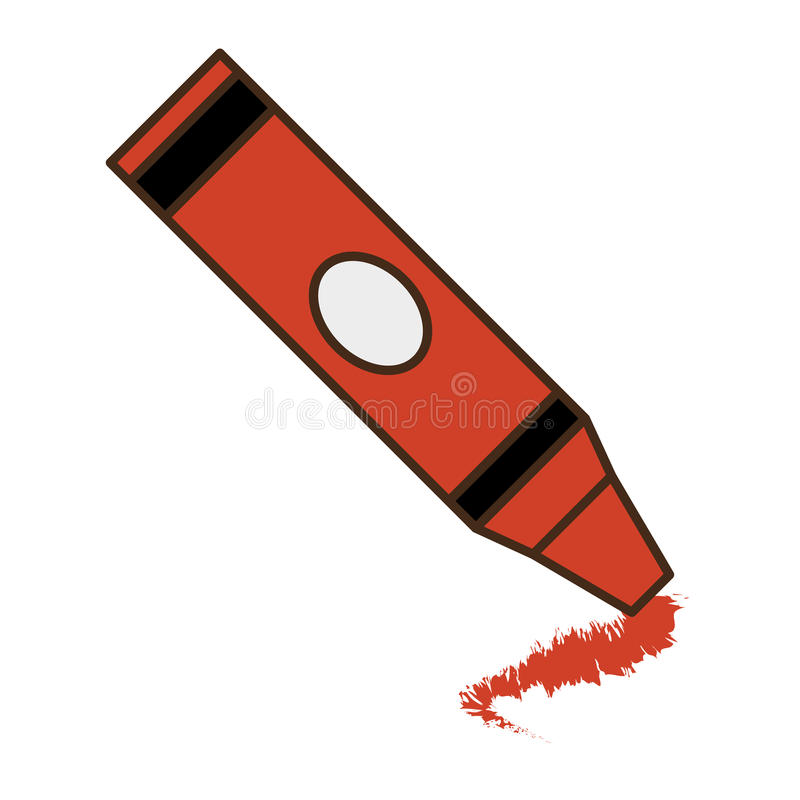 Crayon school supply isolated icon royalty free illustration