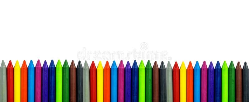 Crayon som isoleras på vit bakgrund fotografering för bildbyråer
