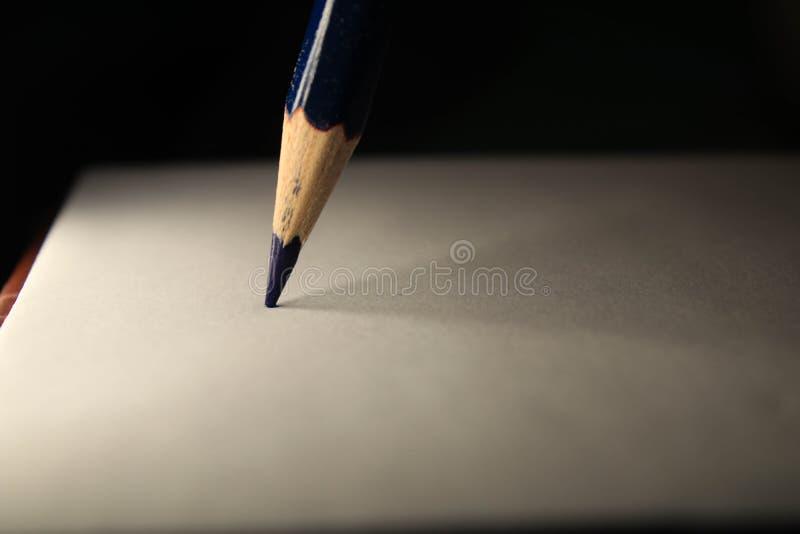 Crayon sur la feuille photographie stock libre de droits