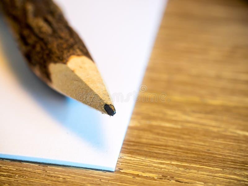Crayon sur le livre blanc photo stock