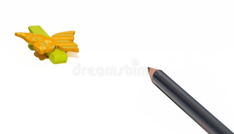 Crayon sur le livre blanc vide 1 images libres de droits