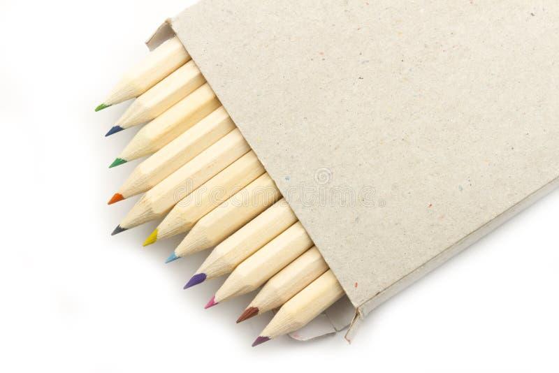 Crayonen boxas in royaltyfri fotografi