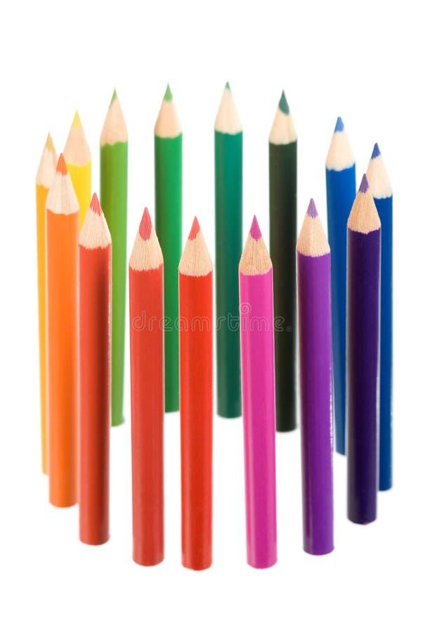 Crayonnent le cercle de couleur photographie stock