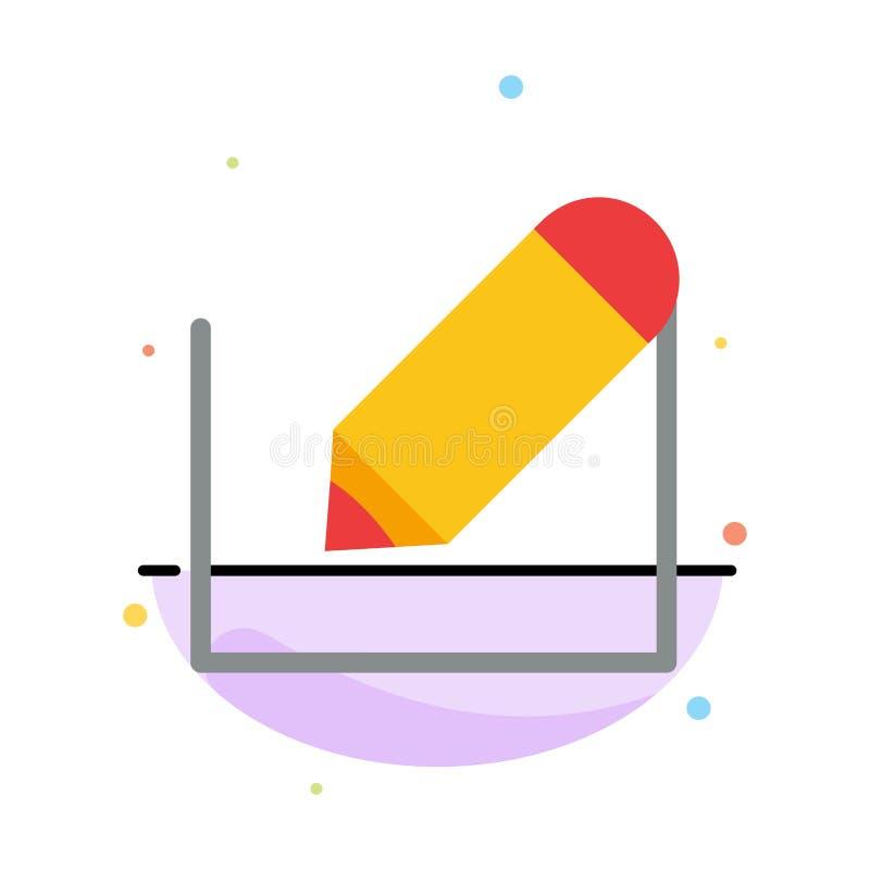 Crayonnez, écrivez, textotez, instruisez le calibre plat abstrait d'icône de couleur illustration de vecteur