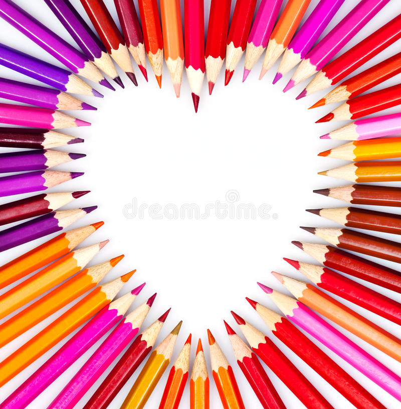 Crayonnez le coeur photo stock
