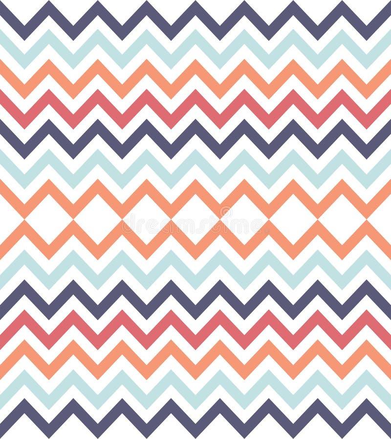 Crayonnez le fond, modèle sans couture géométrique abstrait coloré, vecteur illustration stock